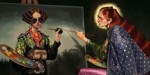 Art, Illustration, Costume, Painting, Performance, Ear,