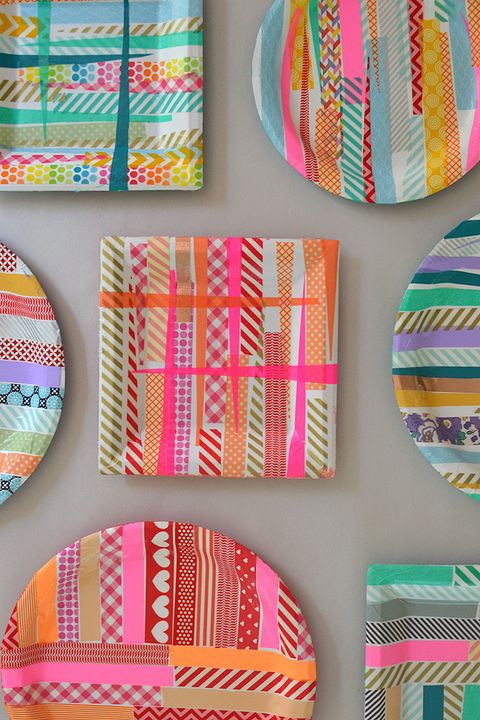 art activities for kids - washi tape paper plates