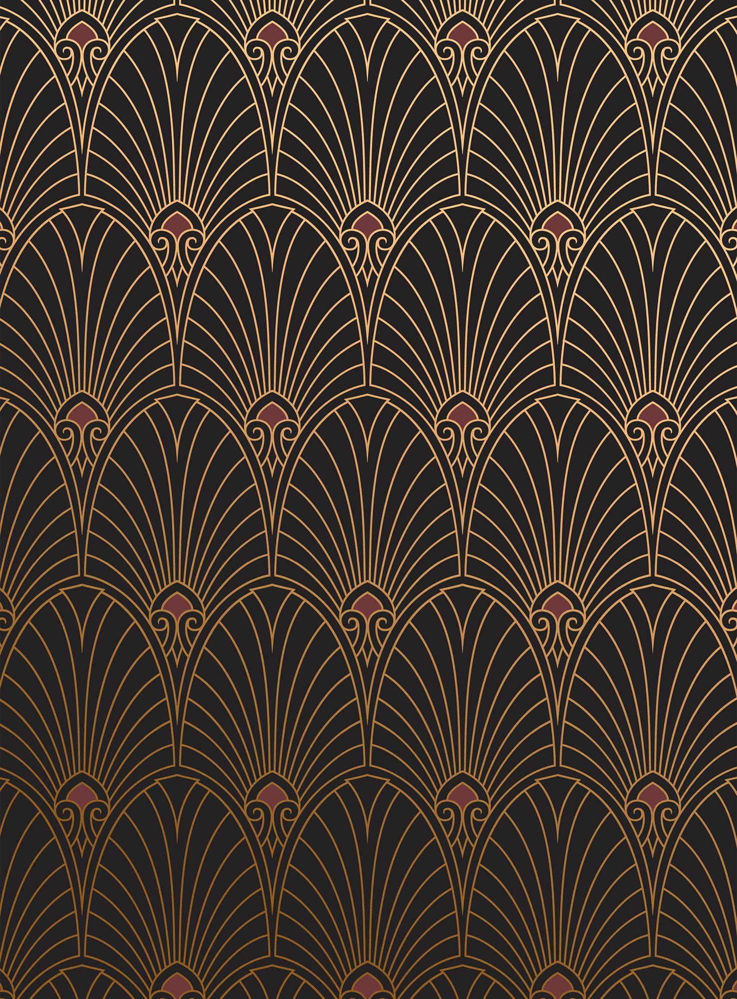 incredible Art Deco Geometric Wallpaper Part - 8: Art Deco wallpaper