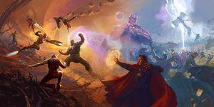 Vengadores Infinity War concept art