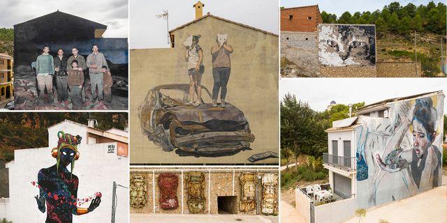 arte urbano en fanzara, castellón miau
