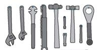 Tool, Metalworking hand tool, Hand tool, Household hardware, Antique tool, Wrench, Tool accessory,