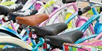 Product, Colorfulness, Bicycle wheel rim, Pink, Pattern, Bicycle tire, Purple, Magenta, Violet, Orange,