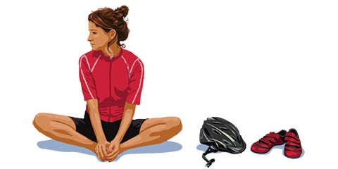 Elbow, Sitting, Art, Knee, Red hair, Hair coloring, Outdoor shoe, Illustration, Drawing, Painting,
