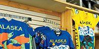 Blue, Product, T-shirt, Public space, Majorelle blue, Electric blue, Clothes hanger, Market, Human settlement, Retail,