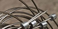 Product, Technology, Metal, Bicycle wheel rim, Grey, Cable, Close-up, Iron, Steel, Silver,