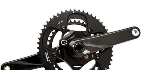 Bicycle part, Crankset, Bicycle drivetrain part, Gear, Hardware accessory, Circle, Steel, Bicycle chain, Groupset,