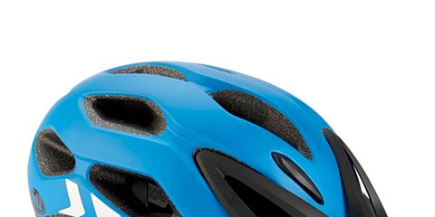 Bicycles--Equipment and supplies, Bicycle helmet, Blue, Sports equipment, Helmet, Personal protective equipment, Bicycle clothing, Sports gear, Light, Font,