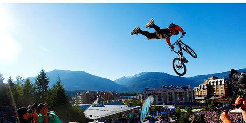 Wheel, Stunt performer, Recreation, Stunt, Bicycle, Leisure, Extreme sport, Bicycle wheel, Bicycle motocross, Cycle sport,