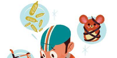 Orange, Animation, Recipe, Illustration, Clip art, Graphics, Peach, Box, Fast food, Animated cartoon,