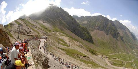 Mountainous landforms, Mountain range, Highland, Bicycle clothing, Mountain, Ridge, Bicycle helmet, Bicycles--Equipment and supplies, Helmet, Tourism,