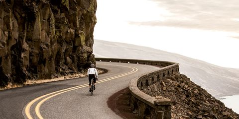 Road, Bicycles--Equipment and supplies, Road cycling, Sports equipment, Asphalt, Bicycle, Road surface, Cycling, Lane, Bicycle helmet,