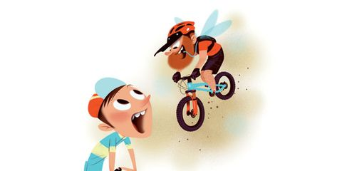 Animation, Animated cartoon, Graphics, Cartoon, Clip art, Bicycle, Illustration, Bicycle part, Bicycle wheel rim, Playing sports,