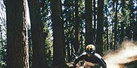 Natural environment, Mountain bike, Bicycle, Soil, Bicycle frame, Downhill mountain biking, Bicycle wheel rim, Mountain biking, Bicycle handlebar, Bicycle wheel,