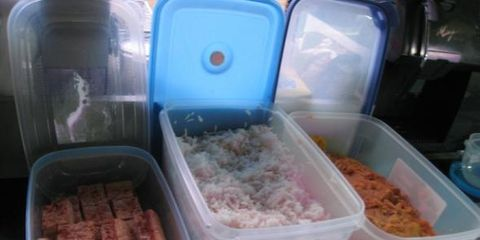 Food, Ingredient, Pink, Take-out food, Food storage containers, Meal, Plastic, Dish, Recipe, Box,