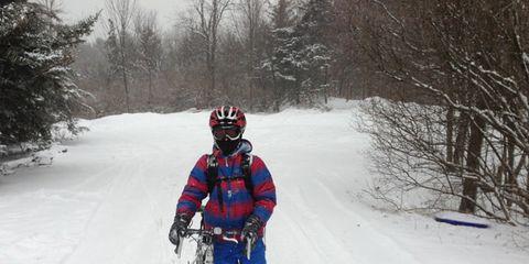 Winter, Bicycle wheel, Helmet, Bicycle wheel rim, Bicycle frame, Bicycle helmet, Bicycle tire, Bicycles--Equipment and supplies, Freezing, Bicycle,
