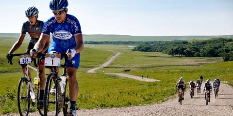 Gravel-lover Dan Hughes grinds his way to victory at the 2012 Dirty Kanza.