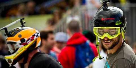 Personal protective equipment, Helmet, Sports gear, Headgear, Jersey, Facial hair, Beard, Sports jersey, Motorcycle helmet,