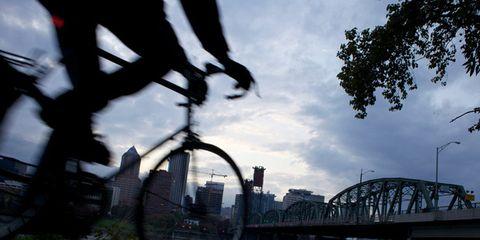 Bridge, Bicycle tire, Tied-arch bridge, Arch bridge, Bicycle, Iron, Bicycle wheel rim, Truss bridge, Cantilever bridge, Bicycle handlebar,
