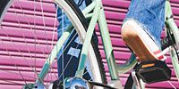 Bicycle tire, Bicycle frame, Bicycle wheel rim, Blue, Mode of transport, Bicycle part, Bicycle accessory, Bicycles--Equipment and supplies, Spoke, Bicycle,
