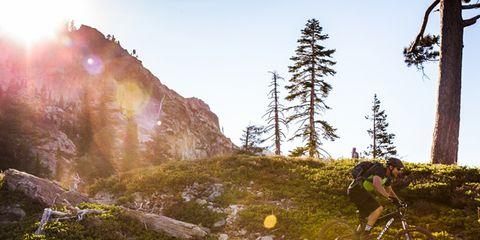 Slope, Mountain, Wilderness, Adventure, Trail, Bedrock, Fell, Mountain biking, Moss, Lens flare,