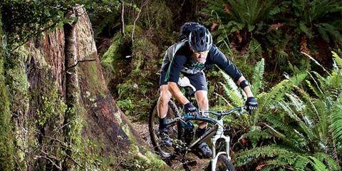 Wheel, Bicycle wheel, Bicycle frame, Mountain bike, Downhill mountain biking, Mountain biking, Bicycle, Bicycle clothing, Plant community, Cross-country cycling,
