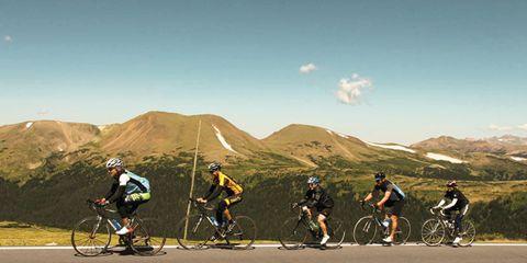 Wheel, Tire, Bicycle frame, Bicycle helmet, Bicycles--Equipment and supplies, Bicycle handlebar, Bicycle wheel, Bicycle, Mountainous landforms, Road,