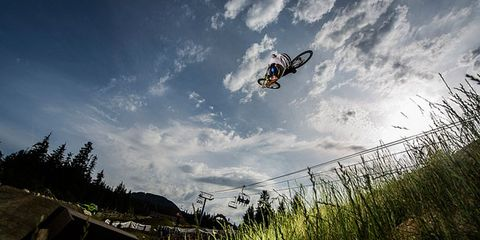 Sports equipment, Bicycle, Bicycle wheel, Extreme sport, Cycle sport, Groupset, Mountain bike, Individual sports, Grass family, Grassland,