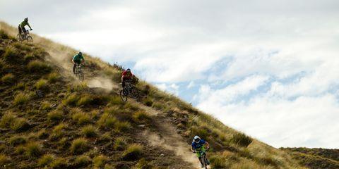 Mountainous landforms, Slope, Hill, Highland, Outdoor recreation, Terrain, Soil, Adventure, Grassland, Mountain biking,