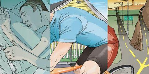 Bicycle tire, Bicycle wheel rim, Elbow, Animation, Bicycle, Art, Bicycle wheel, Wrist, Cartoon, Bicycle frame,
