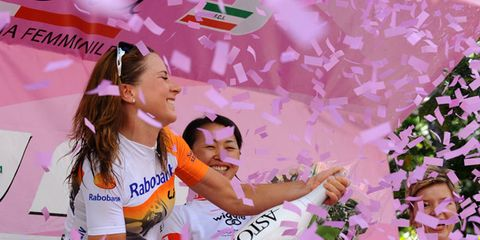 Happy, Pink, Jersey, Logo, Celebrating, Sports jersey, Cheering, Fan, Gesture, Bracelet,