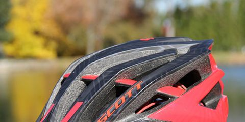 Bicycles--Equipment and supplies, Helmet, Bicycle helmet, Bicycle clothing, Sports gear, Red, Personal protective equipment, Orange, Light, Carmine,