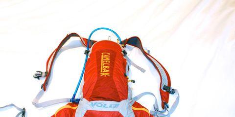 White, Orange, Carmine, Electric blue, Safety glove, Outdoor shoe, Plastic, Strap,