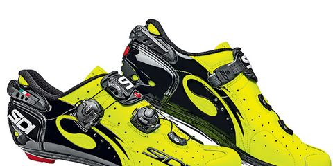 Footwear, Product, Yellow, Shoe, White, Athletic shoe, Line, Font, Logo, Light,