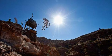 Wheel, Mountainous landforms, Soil, Bicycle clothing, Outdoor recreation, Mountain bike, Mountain biking, Adventure, Slope, Stunt performer,