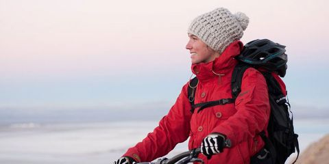 Downhill racer Amanda Batty