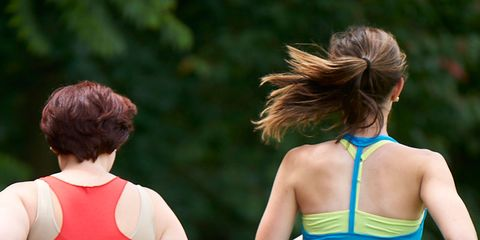 Hair, Shoulder, Back, Sleeveless shirt, People in nature, Active tank, Blond, Brown hair, Red hair, Ponytail,