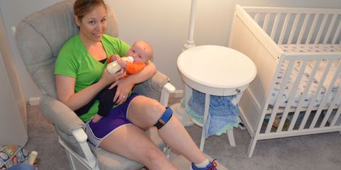 Leg, Product, Comfort, Human leg, Joint, Knee, Baby Products, Thigh, Lap, Calf,