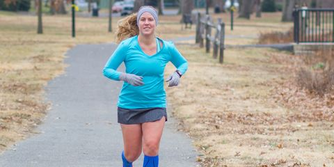 Sleeve, Running, Shorts, Electric blue, Active shorts, Exercise, Physical fitness, Blond, Long-distance running, Active pants,
