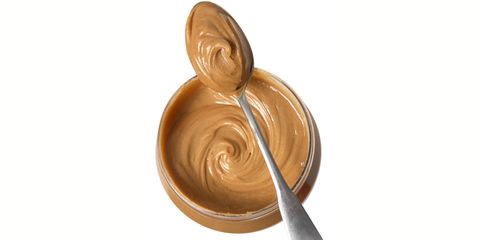 Peanut butter with spoon
