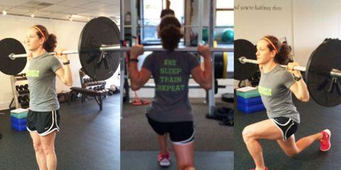 Arm, Leg, Physical fitness, Room, Human leg, Chin, Shoulder, Exercise equipment, Exercise, Chest,