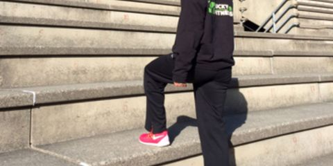 Clothing, Footwear, Trousers, Shoe, Outerwear, Stairs, Collar, Style, Street fashion, Carmine,