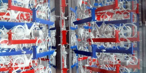 Engineering, Electric blue, Majorelle blue, Plastic, Collection, Mass production,