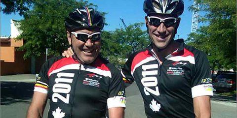 Eddy and Axel Merckx