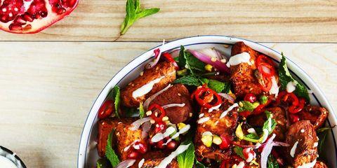 Sweet Potato and Pomegranate Salad