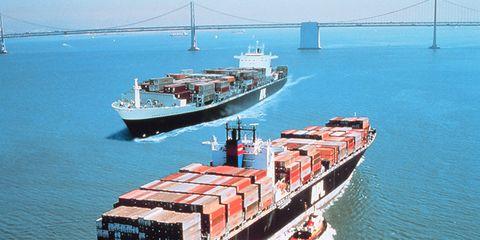 Cargo Ship in the San Franciso Bay