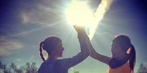 Sky, Sun, Happy, People in nature, Rejoicing, Sunlight, Backlighting, Summer, Lens flare, Interaction,