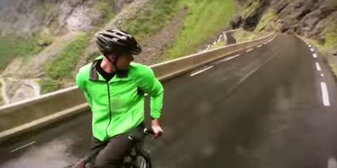 Backwards Cyclist