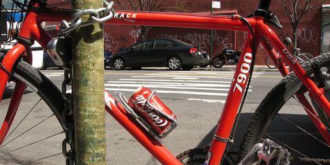 Coke on a bike