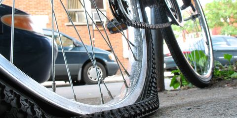 Don't worry if you can't fix your flat on your own: you can call for a ride!